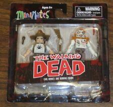 Walking Dead Mini Mates Carl Grimes and Burning Zombie Art Asylum Diamond