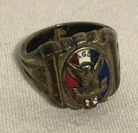 Vintage Sterling SILVER BSA Boy Scouts EAGLE SCOUT Ring size 8