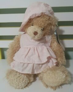SETTLER TEDDY BEARS DOO DOO 36CM WITH TAGSPINK SPOTTY DRESS AND HAT