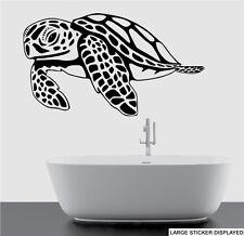 Giant Sea Turtle Silhouette Wall Vinyl Stickers Ocean Sea Transfer Decal Mural
