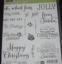 Stampin Up! ~OH WHAT FUN~ PHOTOPOLYMER RUBBER STAMP SET, CHRISTMAS SAYINGS