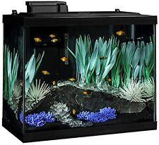 Complete 20 Gal Fish Aquarium Tank Kit Filter Heater LED Color Lights Plants USA