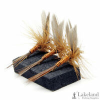3, 6 or 12x Orange Quill Dry Trout Flies for Fly Fishing