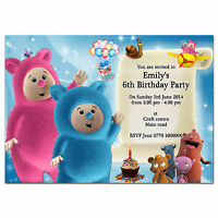 i068; Baby tv Billy Bam Bam & Cuddlies; Personalised invitations; Any age, name