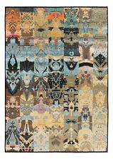Oxidize Vintage Finish Modern Contemporary Oriental Hand Knotted Area Rugs