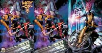 WAY OF X #1 JAY ANACLETO 3-BOOK VARIANT SET NM XMEN NIGHTCRAWLER WOLVERINE PIXIE