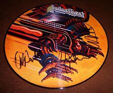 JUDAS PRIEST SIGNED SCREAMING FOR VENGEANCE PICTURE DISC ROB HALFORD TIPTON HILL