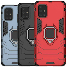 For OnePlus 8T /8T+ Plus 5G Rugged Armor Shockproof Ring Holder Stand Case Cover