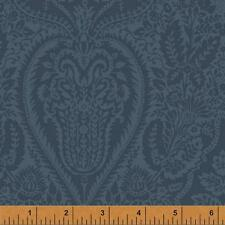 Windham Dover Flannel Rose Navy Blue Paisley Floral Quilt Quilting Fabric Sewing