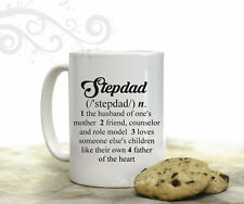 Stepdad Dictionary Definition Coffee Mug for Stepfather Gift 15 oz Coffee Cup