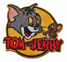 """Tom & Jerry Cartoon Logo Embroidered Patch Iron On Sew On Applique 3.1""""X2.9"""""""