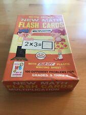 Vintage (1) 1965: New Math Multiplication Flash Cards Milton Bradley 4593