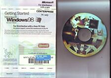 MICROSOFT WINDOWS 98 SECOND EDITION SE - PC OPERATING SYSTEM WITH MANUAL & COA