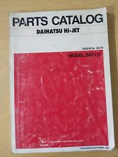 Daihatsu Hi-Jet Model S60 Parts Catalog
