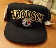 New Vintage Football Snapback Starter PITTSBURGH STEELERS ROD WOODSON Hat Cap