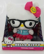 """Hello Kitty with Glasses 6"""" Poseable Plush New"""