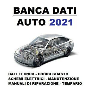 BANCA DATI 2021 Auto tecnici manuali riparazione database ricambi veicoli