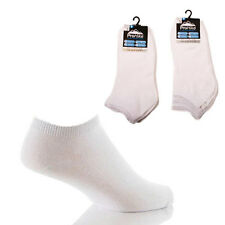 3 Pairs mens Prohike Trainer Socks, White Size 6-11
