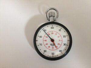 Heuer stopwatch, Decimal type, 1/100 of minute