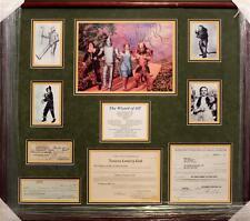 The Wizard of Oz Cast Signed Framed Document  PSA/DNA