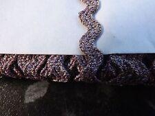 RIC RAC Braid Trimming  5 Metres 4mm Metallic PInk Sparkle