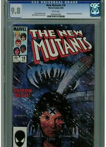 NEW MUTANTS #18 CGC 9.8 WHITE PAGES 1984 1ST APPEARANCE OF THE NEW WARLOCK