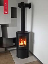 Contemporary Woodburning Stove Stoves Wood Burner Curved Style Modern Log Burner