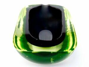 Signed Murano Cenedese Art Glass Space Age Glowing Uranium Bowl Antonio Da Ros
