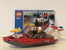 Lego 7043 World City Firefighter Boat  with Instructions & Mini Figure
