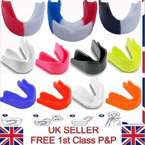 Adult & Junior Multi Color Lightly Flavoured Gum Shield Mouth Guard Boxing Rugby