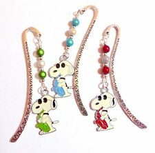 "1 ""Cool Dude"" Musical Snoopy Peanuts Bookmark Enamel Charm Silver tone Bookmark"