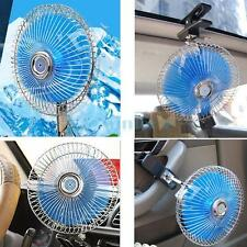"""Auto Car Fan Vehicle RV Dashboard Portable 8"""" Clip-On Oscillating 12V Cooling US"""