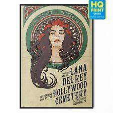 Lana Del Rey Singer Music Poster Print | A5 A4 A3 A2 A1 |