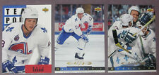 1993-94 Upper Deck Lot Of 3 Mats Sundin Quebec Nordiques