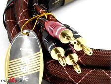 Choseal HiFi LB-5111 HiEnd Lautsprecherkabel 2x2,5m 16mm dick 24K Gold 4,5kg