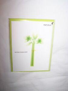 Papyrus Sympathy/Funeral Greeting Card and Envelope; Tall Green Arrangement