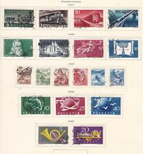 SWITZERLAND^^^1947-49    used    SETS collection    on page  $$@dca219xxbsw9