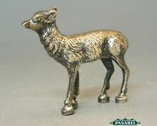 Solid Silver Fawn Miniature Figure Germany Ca 1900