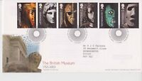GB ROYAL MAIL FDC FIRST DAY COVER 2003 THE BRITISH MUSEUM STAMPS TALLENTS PMK