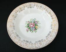 Limoges Triumph USA Rosalie Soup / Salad Bowl w/Flowers Roses 22K Gold - 8 in