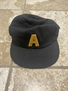 Vintage US Army Fitted Leather Band 100% Wool made by Sentinel Cap size 7