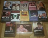 Lot of 13 EARLY COUNTRY cassette tapes KENNY ROGERS WILLIE NELSON CONWAY TWITTY