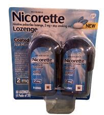 Nicorette Nicotine Lozenge Coated Ice Mint 2mg 80 Pieces EXP 01/2022