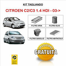 KIT TAGLIANDO FILTRI CITROEN C2 C3 1.4 HDI 03->