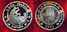 SPAGNA ARGENTO 2000 PESETAS 2001 PROOF ARG. 925 GR. 27,00 - 500° segovia Mint