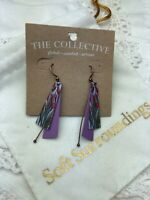 Soft Surroundings The Collective Artisan Calla Lily Purple Earrings Jewelry NEW