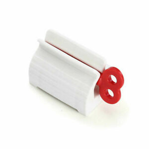 Toothpaste Squeezer Rolling Tube Easy Dispenser Seat Holder Stand Bathroom CA