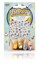 Self Adhesive Rainbow Unicorn Nail Stickers.  Nail art transfers. Beauty.