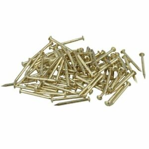 100pcs Brass Antique Round Head Copper Nail 1.3mm Dia for Furniture Hinge