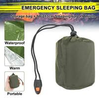 Waterproof Emergency Sleeping Bag Pad Thermal Reusable Survival Camping Hiking